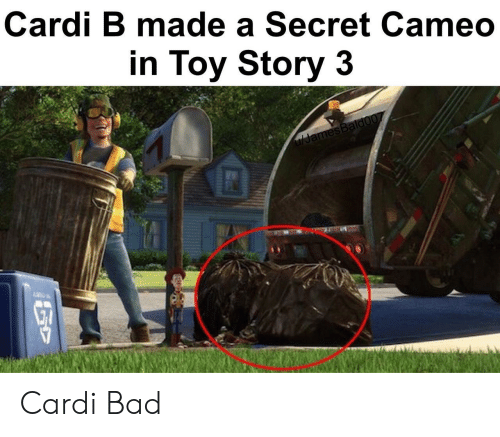Toy Story: Cardi B made a Secret Cameo  in Toy Story 3  ulJamesBaldo07 Cardi Bad