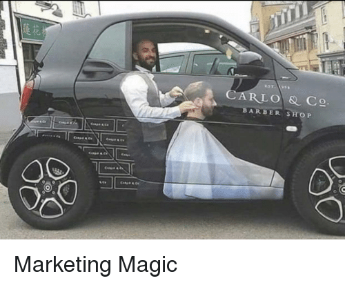 Barber, Barber Shop, and Magic: CARLO & C  BARBER SHOP Marketing Magic