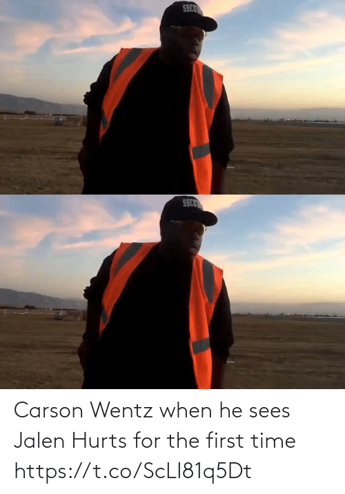 Carson: Carson Wentz when he sees Jalen Hurts for the first time  https://t.co/ScLI81q5Dt