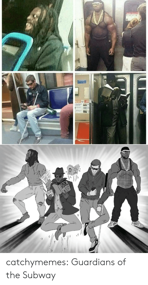 Guardians: catchymemes: Guardians of the Subway