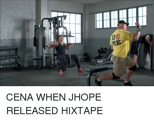 Cena, When, and Jhope: CENA WHEN JHOPE RELEASED HIXTAPE