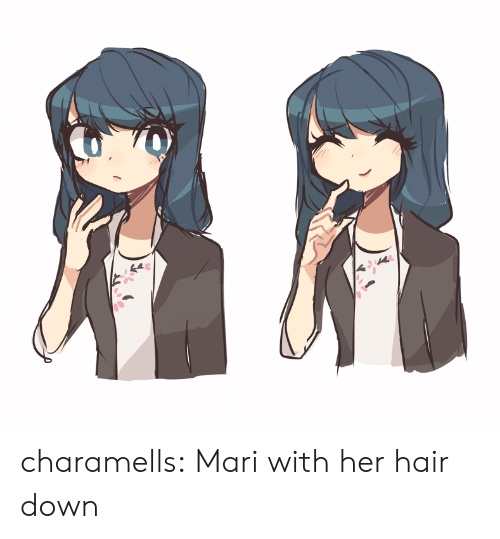Target, Tumblr, and Blog: charamells:  Mari with her hair down