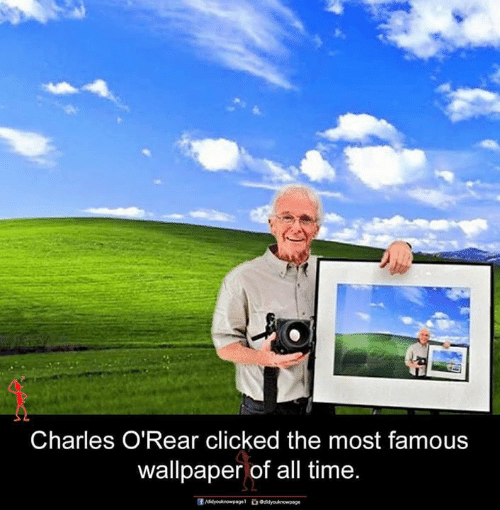 Wallpaper: Charles O'Rear clicked the most famous  wallpaper of all time