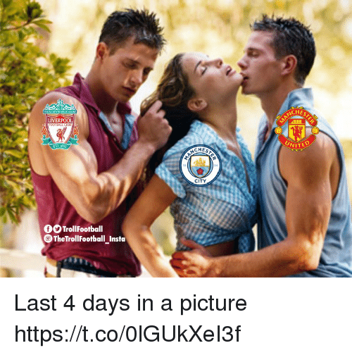 Memes, Liverpool F.C., and A Picture: CHE  LIVERPOOL  CHES  CITY  OTrollFootball  TheTrollFootball Insta Last 4 days in a picture https://t.co/0lGUkXeI3f
