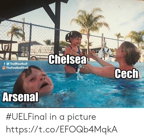 Arsenal, Chelsea, and Memes: Chelsea  Cech  Arsenal #UELFinal in a picture https://t.co/EFOQb4MqkA