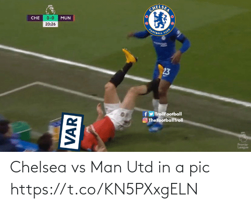 Chelsea: Chelsea vs Man Utd in a pic https://t.co/KN5PXxgELN