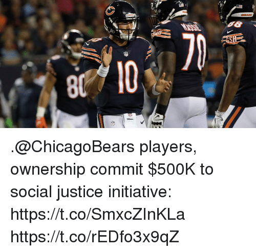 Memes, Justice, and 🤖: .@ChicagoBears players, ownership commit $500K to social justice initiative: https://t.co/SmxcZInKLa https://t.co/rEDfo3x9qZ