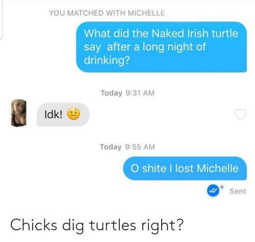dig: Chicks dig turtles right?