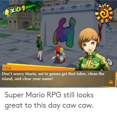 Chie Don T Worry Mario We Re Gonna Get That Faker Clean The