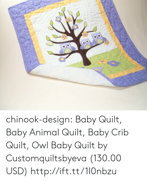 Baby Animal: chinook-design:  Baby Quilt, Baby Animal Quilt, Baby Crib Quilt, Owl Baby Quilt by Customquiltsbyeva (130.00 USD) http://ift.tt/1I0nbzu