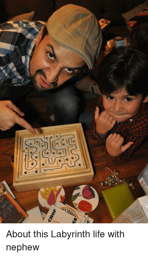 Memes, Labyrinth, and 🤖: CHOP About this Labyrinth life with nephew