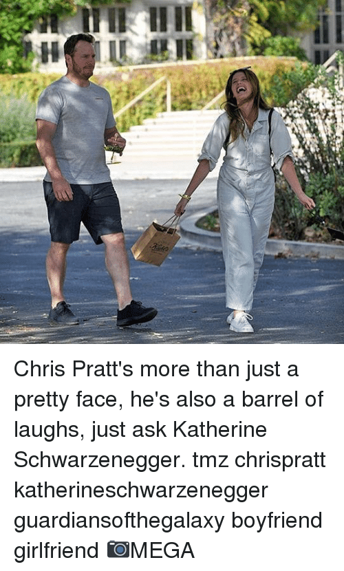 Memes, Girlfriend, and Boyfriend: Chris Pratt's more than just a pretty face, he's also a barrel of laughs, just ask Katherine Schwarzenegger. tmz chrispratt katherineschwarzenegger guardiansofthegalaxy boyfriend girlfriend 📷MEGA