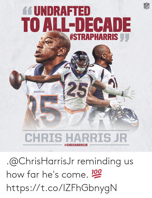 hes: .@ChrisHarrisJr reminding us how far he's come. 💯 https://t.co/IZFhGbnygN