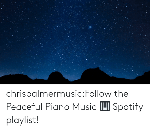 Spotify: chrispalmermusic:Follow the Peaceful Piano Music 🎹 Spotify playlist!