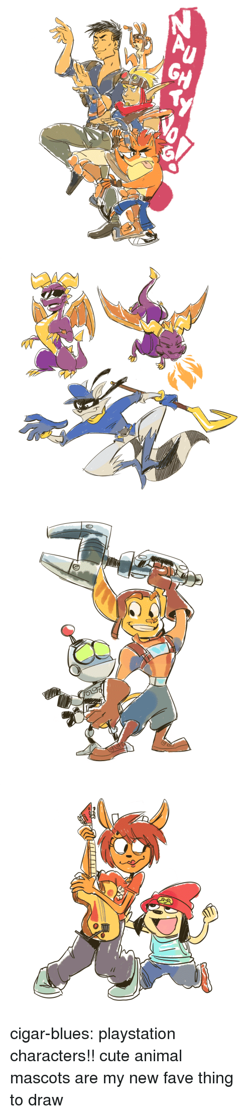 mascots: cigar-blues:  playstation characters!! cute animal mascots are my new fave thing to draw