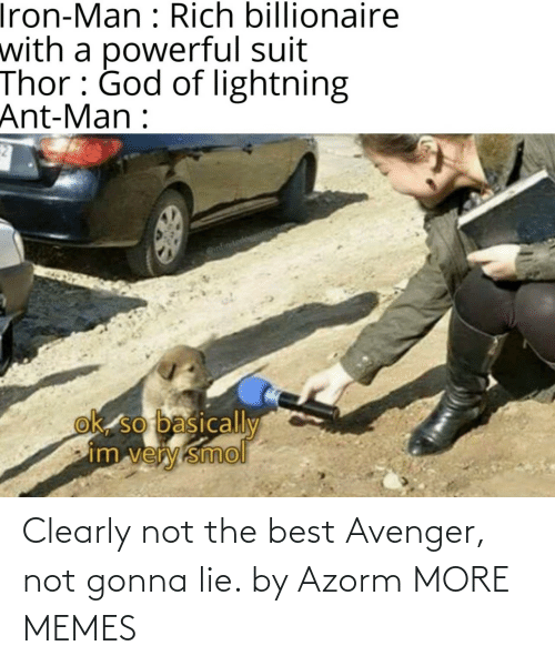 lie: Clearly not the best Avenger, not gonna lie. by Azorm MORE MEMES