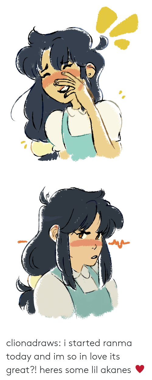 Love, Target, and Tumblr: clionadraws:  i started ranma today and im so in love its great?! heres some lil akanes ♥