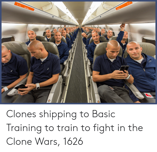 clone wars: Clones shipping to Basic Training to train to fight in the Clone Wars, 1626