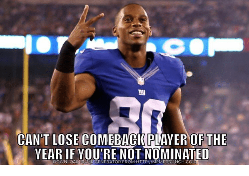 Nfl, Nominal, and Nch: CO  CAN'T LOSE COMEBACK AVER OF THE  YEAR IF YOURE NOT NOMINATED  ENERATOR FROM HTTP:llMEMEC  NCH.C