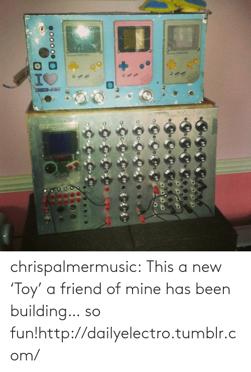 Tumblr, Blog, and Http: Co CoC  oo000  H chrispalmermusic:  This a new 'Toy' a friend of mine has been building… so fun!http://dailyelectro.tumblr.com/