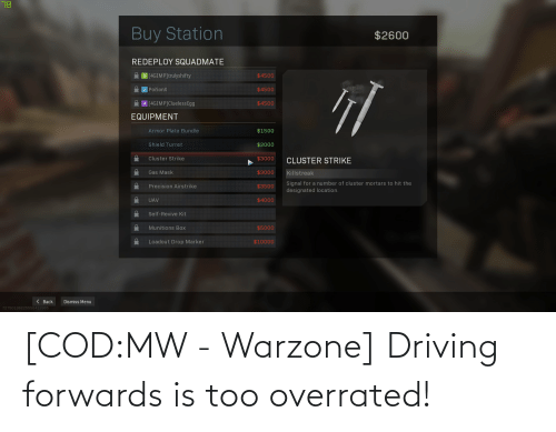 cod: [COD:MW - Warzone] Driving forwards is too overrated!