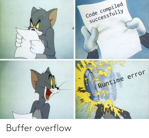 Compiled: Code compiled  successfully  Runtime error Buffer overflow