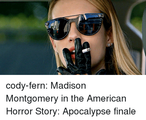 american horror: cody-fern:  Madison Montgomery in the American Horror Story: Apocalypse finale