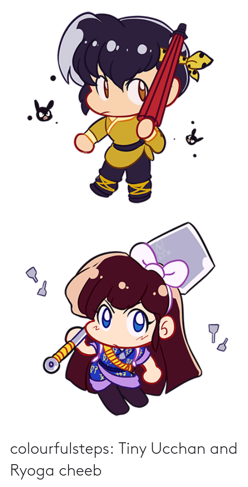 tiny: colourfulsteps:  Tiny Ucchan and Ryoga cheeb