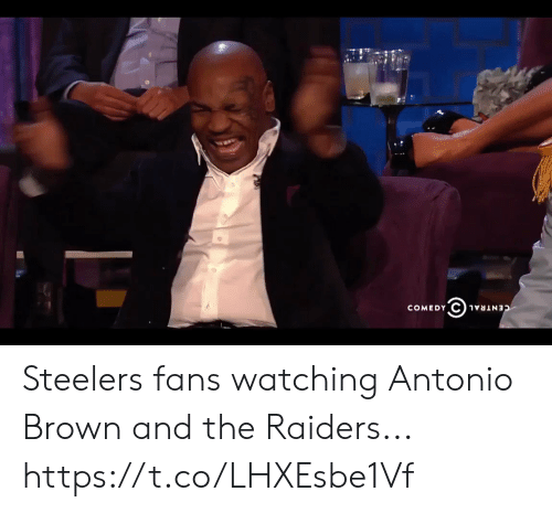 Football, Nfl, and Sports: COMEDY  CENTRAL Steelers fans watching Antonio Brown and the Raiders... https://t.co/LHXEsbe1Vf