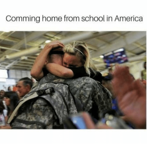 America, School, and Home: Comming home from school in America