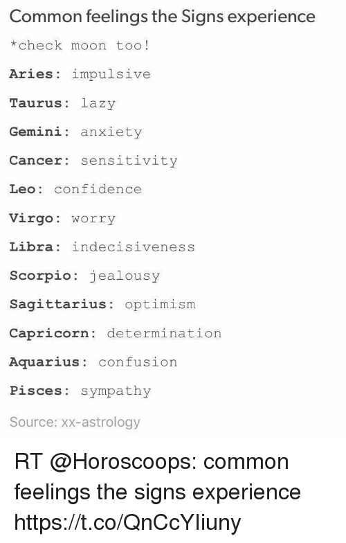 Common Feelings the Signs Experience *Check Moon Too! Aries