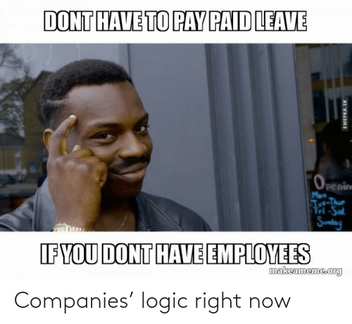 Logic, Now, and Companies: Companies' logic right now