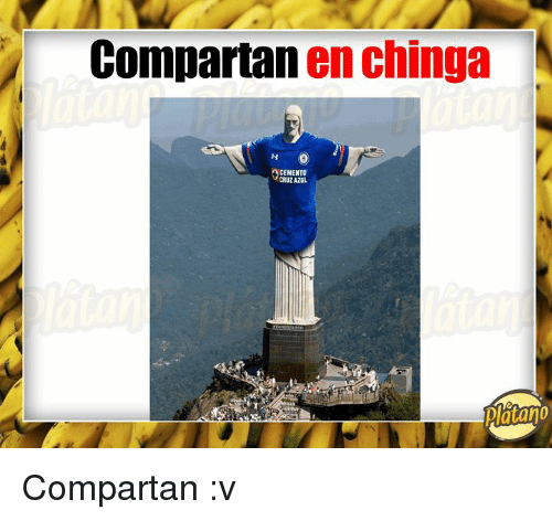 Cruz Azul, Platano, and Cruz: Compartan en chinga  CEMENTO  CRUZ AZUL  Platano Compartan :v