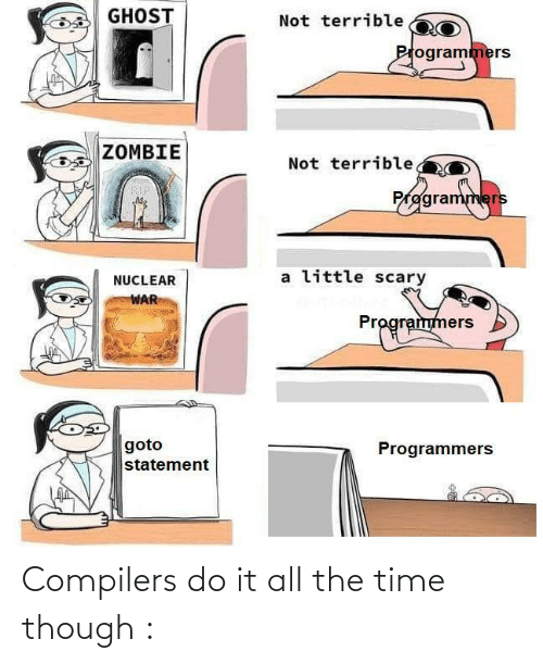 do it: Compilers do it all the time though :