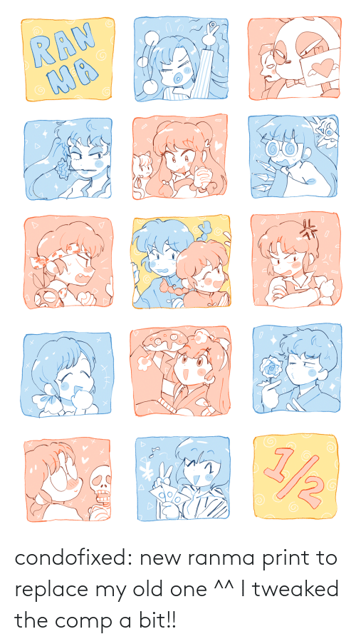 Print: condofixed:  new ranma print to replace my old one ^^ I tweaked the comp a bit!!