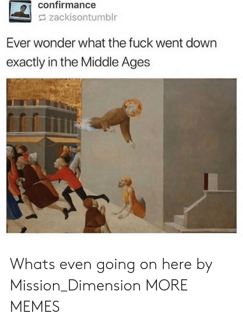 Dank, Memes, and Target: confirmance  zackisontumblr  Ever wonder what the fuck went down  exactly in the Middle Ages Whats even going on here by Mission_Dimension MORE MEMES