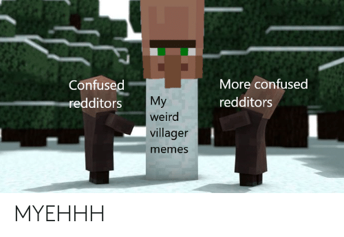 Confused Redditors More Confused Redditors My Weird Villager Memes