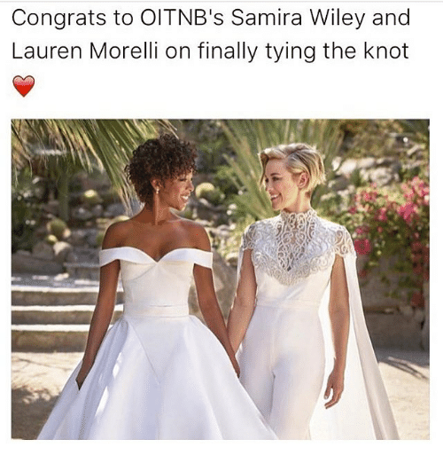 wiley: Congrats to OITNB's Samira Wiley and  Lauren Morelli on finally tying the knot