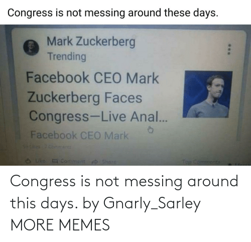 around: Congress is not messing around this days. by Gnarly_Sarley MORE MEMES