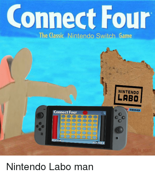 Connect Four the Classic Nintendo Switch Game NINTENDO LABO
