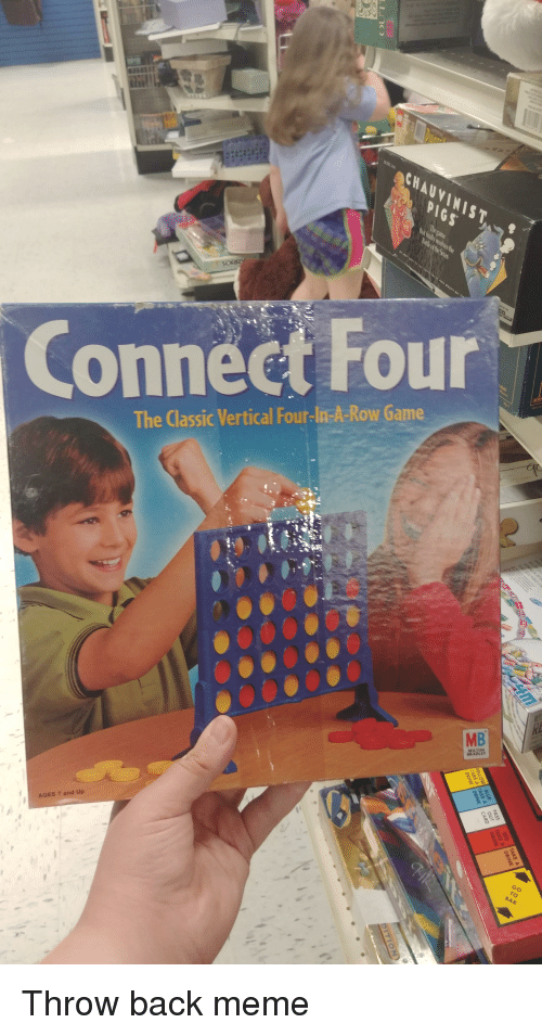 Connect Four the Classic Vertical Four-Lia-A-Row Game AGES 7