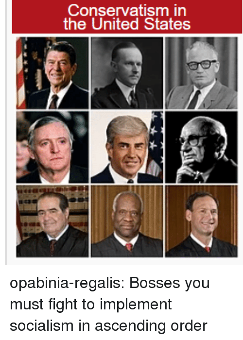 Bosses: Conservatism in  the United States opabinia-regalis:  Bosses you must fight to implement socialism in ascending order