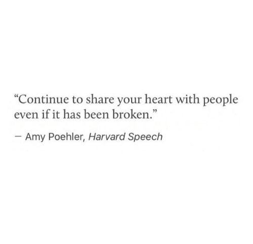 """Amy Poehler, Harvard, and Heart: """"Continue to share your heart with people  even if it has been broken.""""  03  Amy Poehler, Harvard Speech"""