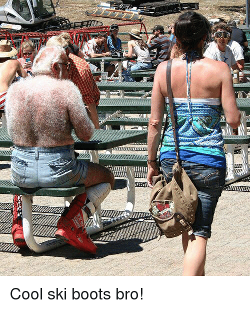 Funny, Boots, and Cool: Cool ski boots bro!