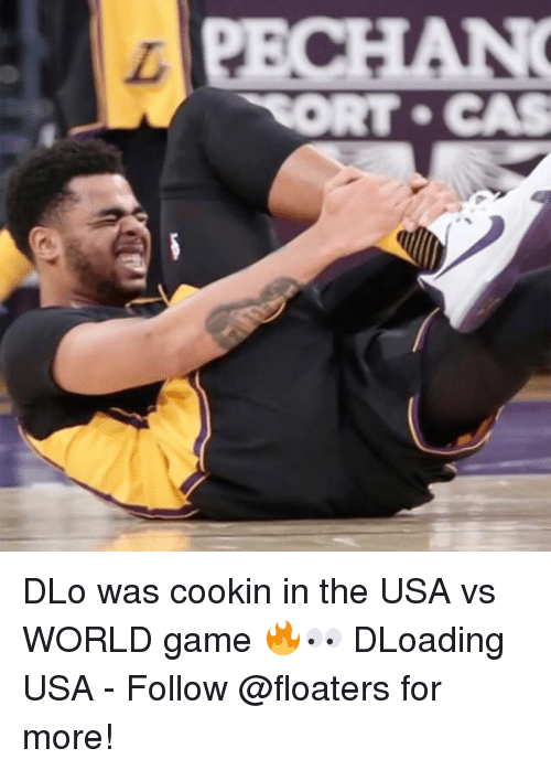 cort: CORT CAS DLo was cookin in the USA vs WORLD game 🔥👀 DLoading USA - Follow @floaters for more!