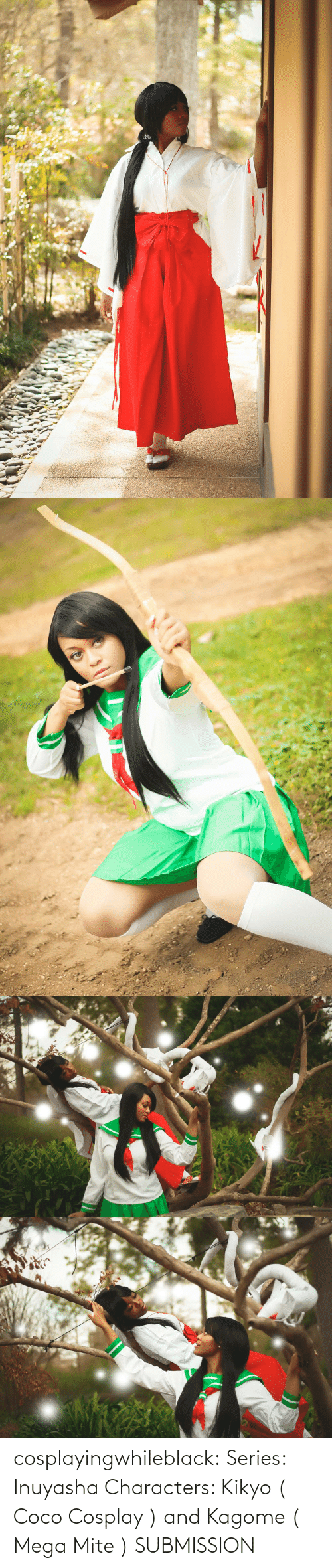 Facebook: cosplayingwhileblack:    Series: Inuyasha Characters: Kikyo ( Coco Cosplay ) and Kagome ( Mega Mite )   SUBMISSION