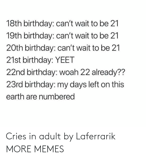 adult: Cries in adult by Laferrarik MORE MEMES
