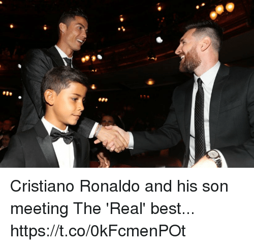 Cristiano Ronaldo, Soccer, and Best: Cristiano Ronaldo and his son meeting The 'Real' best... https://t.co/0kFcmenPOt