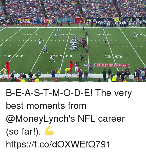 crm: CRM  WHO  WANTS B-E-A-S-T-M-O-D-E!  The very best moments from @MoneyLynch's NFL career (so far!). 💪 https://t.co/dOXWEfQ791