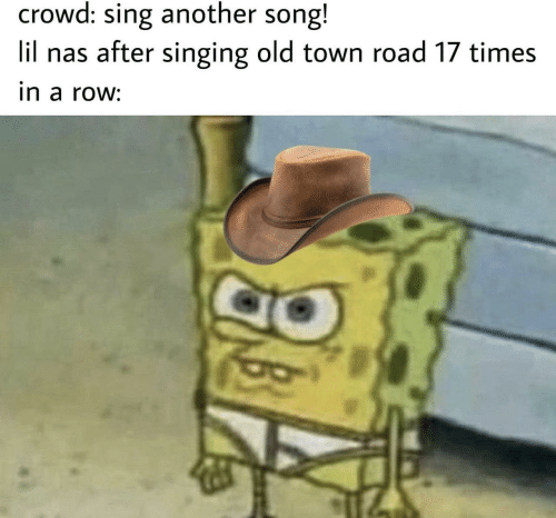 Nas, Singing, and Old: crowd: sing another song!  lil nas after singing old town road 17 times  in a row:
